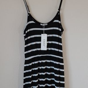 NWT Exist Black and White Maxi Dress Size S